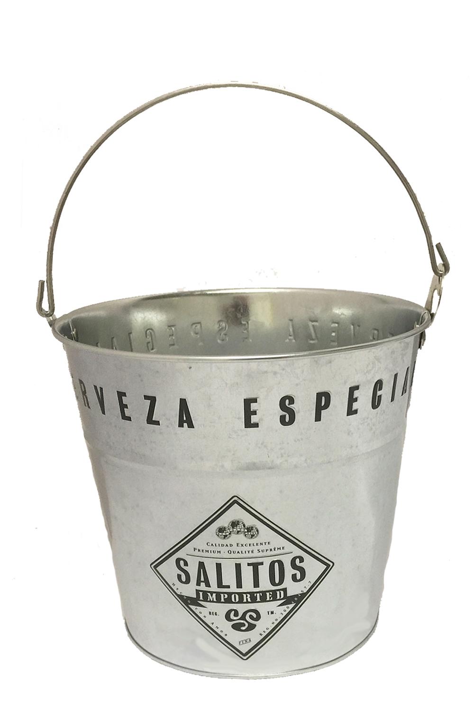 Salitos Eiskübel aus Metall mit Henkel 1 Stück - Getraenke-Handel ...